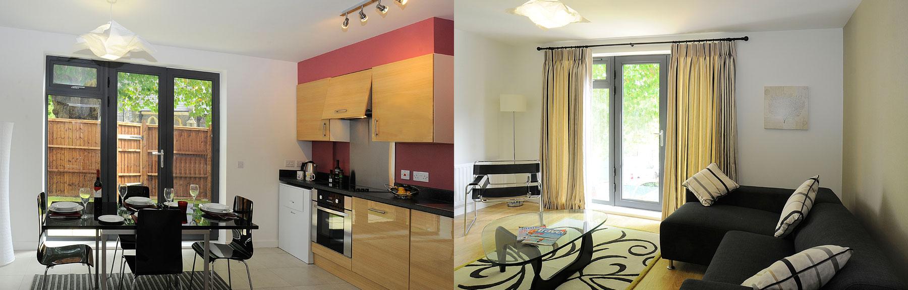 Saints Court Bristol Kitchen & Living Room